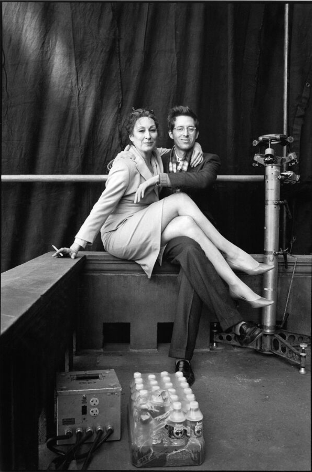 Behind the scenes with Anjelica Huston and Wes Anderson New York, New York, 2001