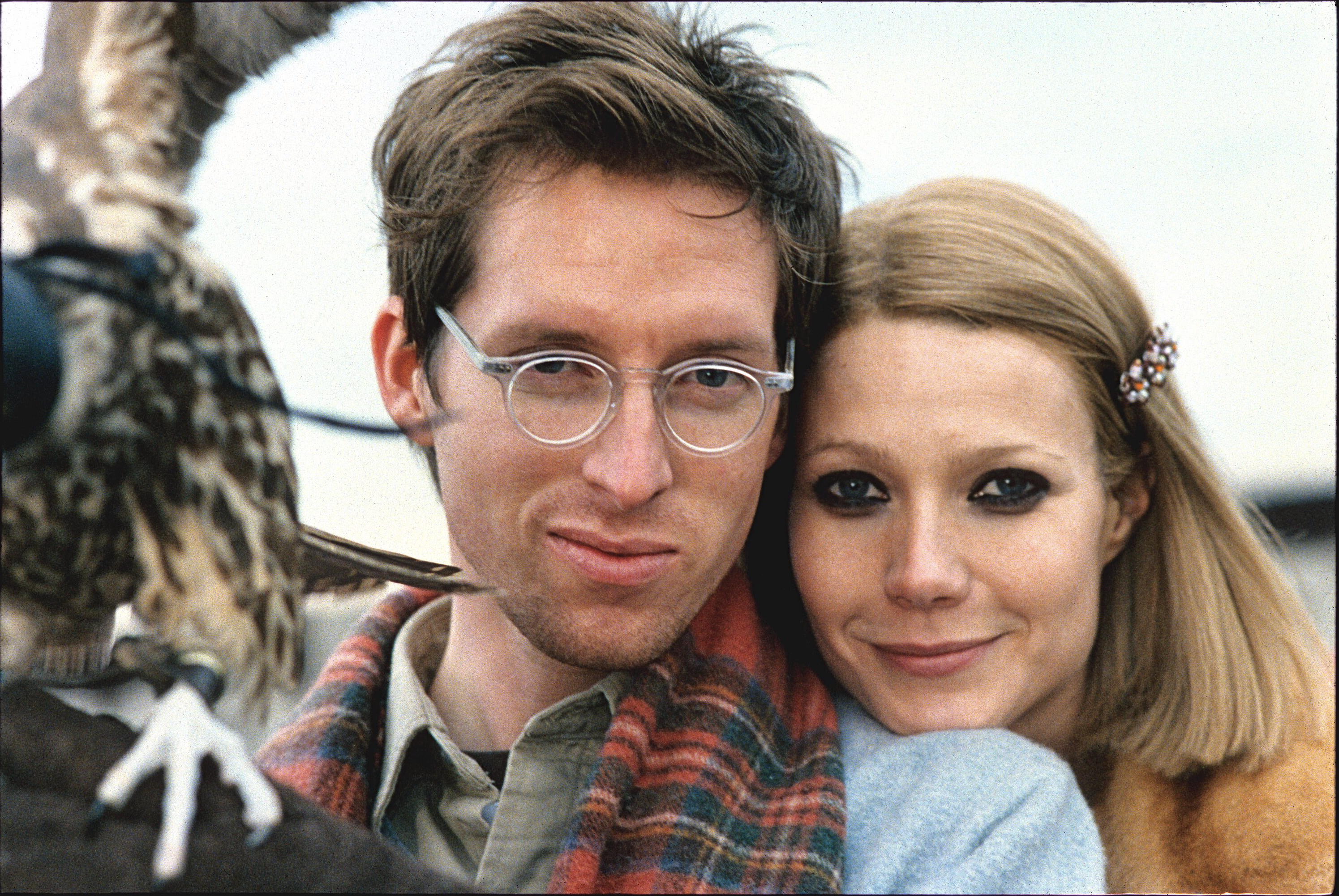 Wes Anderson and Gwyneth Paltrow on set of Royal Tenenbaums, New York, New York, 2001