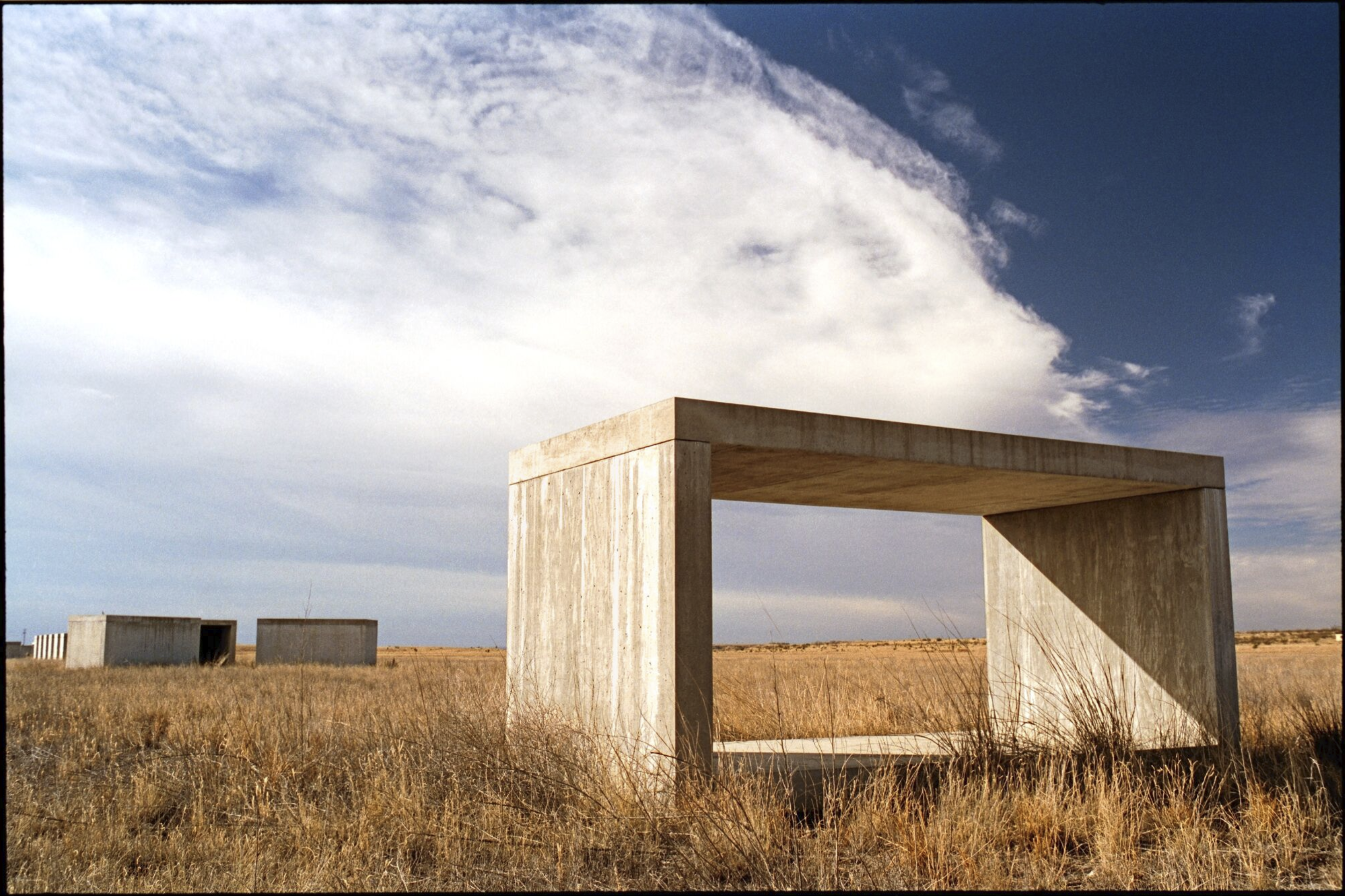 Concrete piece on the prairie, Marfa, Texas, Donald Judd, 1993