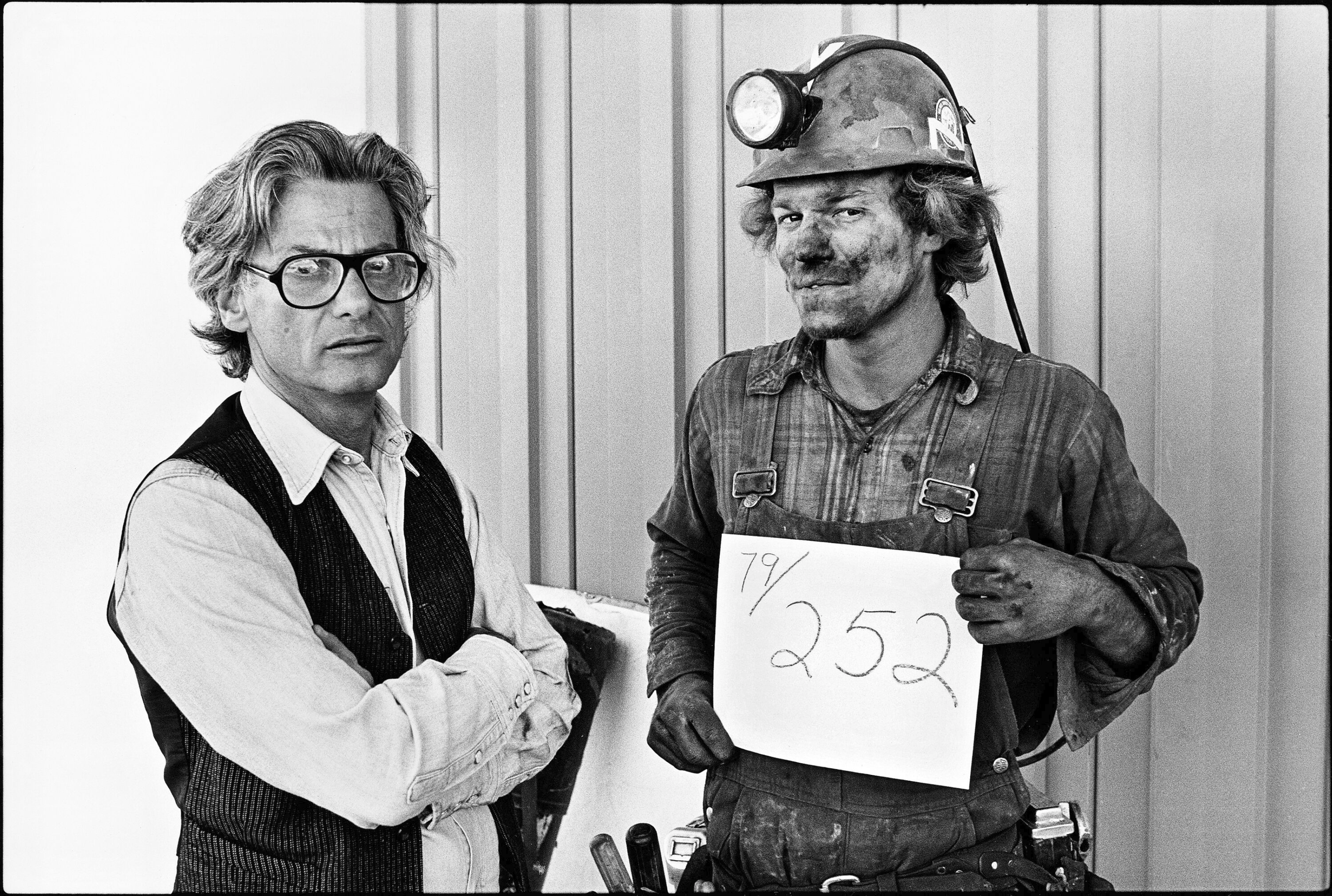 Richard Avedon and Coal Miner, Reliance, Wyoming, 1980