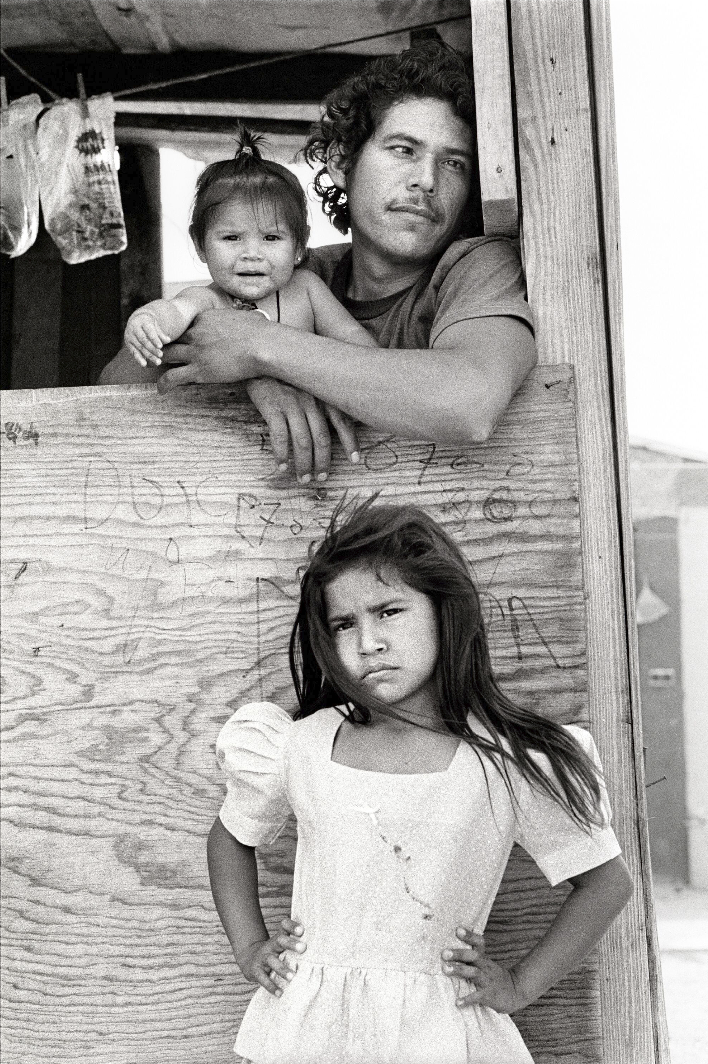 Child with Father and Sister, Colonia, Nuevo Laredo, Mexico, 1993
