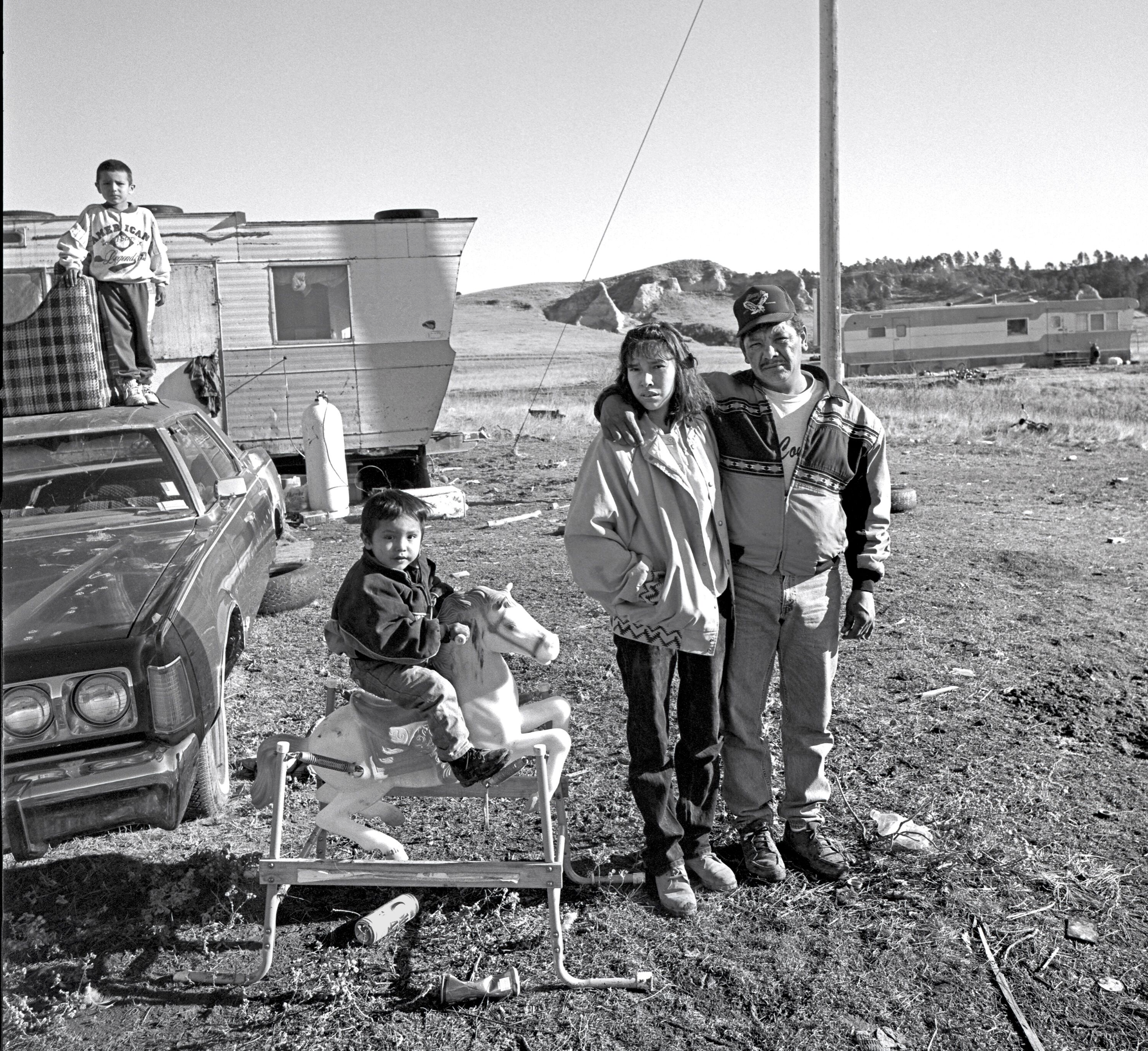 Oglala Sioux Family, The Pine Ridge Indian Reservation, South Dakota, 1996