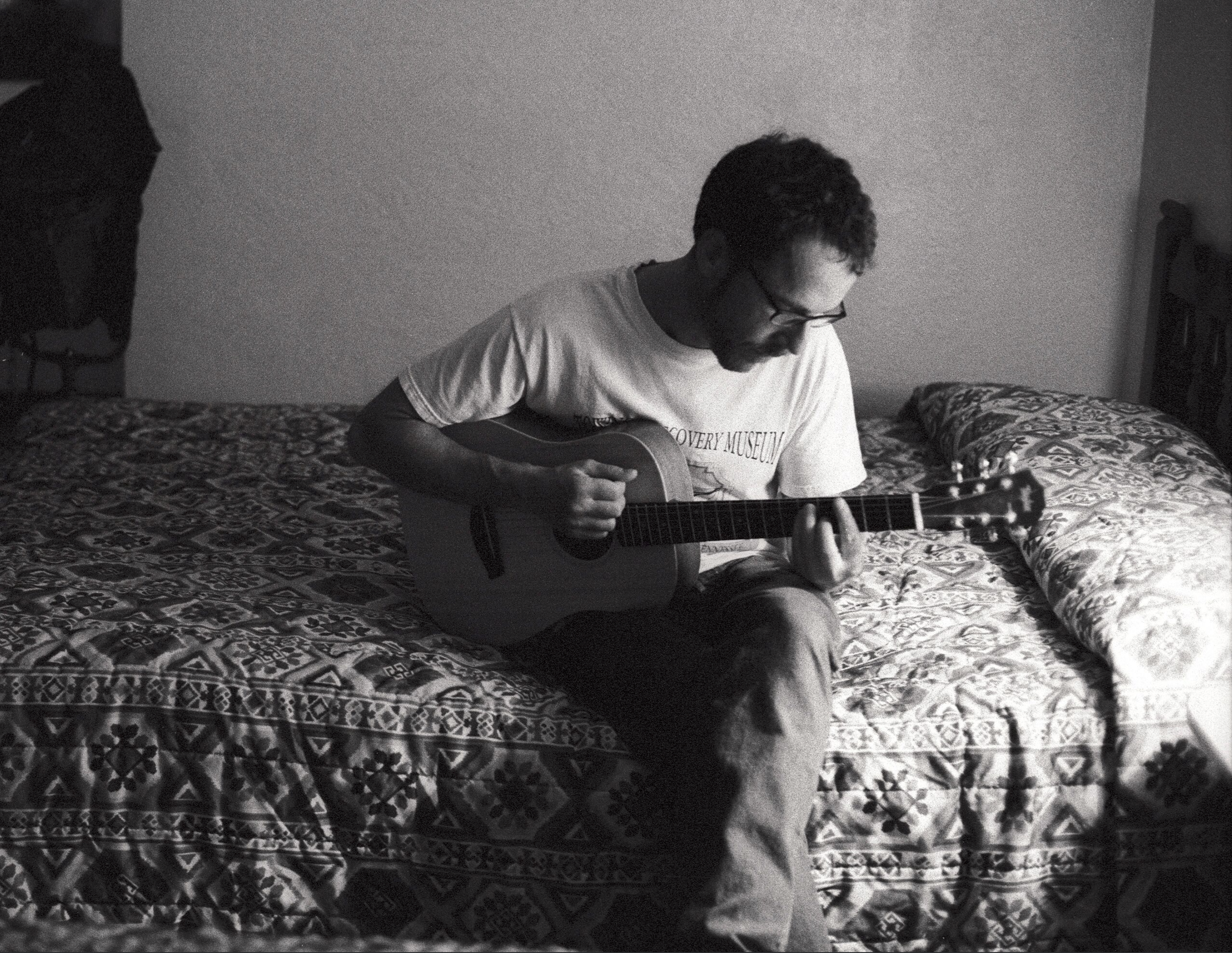 Ethan Coen during a break in filming, motel room Albuquerque, New Mexico, 2006