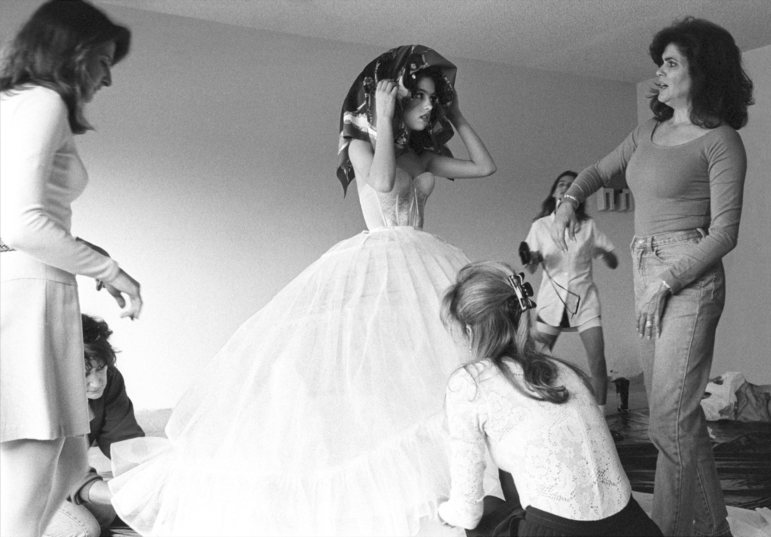 Debutante Getting into Her Dress, Laredo, Texas, 1994