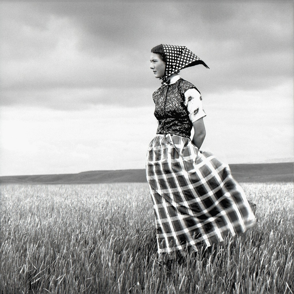 Emma, Hutterite Girl in Field